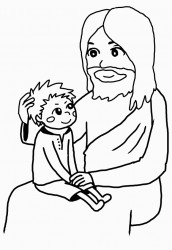 イエスさまに抱かれて(男の子)