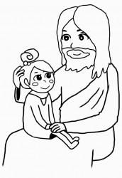 イエスさまに抱かれて(女の子)