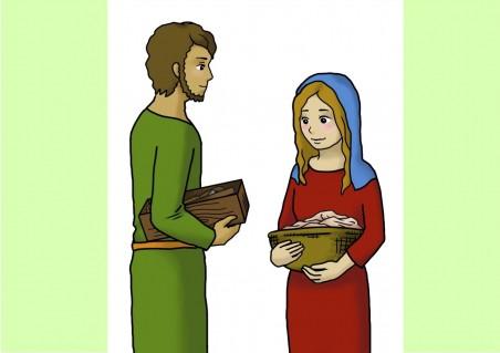 ヨセフとマリヤ