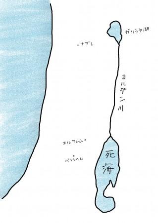 map-ナザレ・エルサレム・ベツレヘム